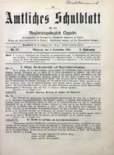 Amtliches Schulblatt für den Regirungsbezirk Oppeln, 1914, Jg. 2, Nr. 17
