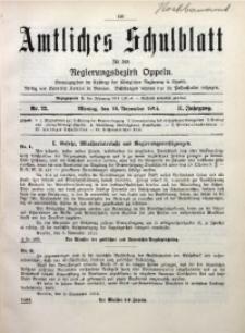 Amtliches Schulblatt für den Regirungsbezirk Oppeln, 1914, Jg. 2, Nr. 22
