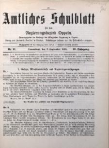 Amtliches Schulblatt für den Regirungsbezirk Oppeln, 1916, Jg. 4, Nr. 17