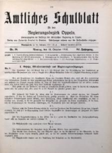 Amtliches Schulblatt für den Regirungsbezirk Oppeln, 1916, Jg. 4, Nr. 20