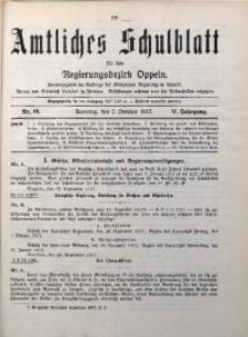 Amtliches Schulblatt für den Regirungsbezirk Oppeln, 1917, Jg. 5, Nr. 19