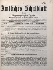 Amtliches Schulblatt für den Regirungsbezirk Oppeln, 1918, Jg. 6, Nr. 3