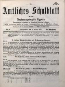 Amtliches Schulblatt für den Regirungsbezirk Oppeln, 1918, Jg. 6, Nr. 6