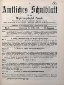 Amtliches Schulblatt für den Regirungsbezirk Oppeln, 1918, Jg. 6, Nr. 9