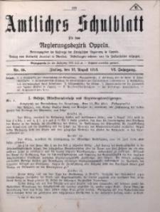 Amtliches Schulblatt für den Regirungsbezirk Oppeln, 1918, Jg. 6, Nr. 16
