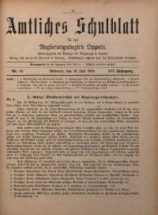 Amtliches Schulblatt für den Regirungsbezirk Oppeln, 1919, Jg. 7, Nr. 14