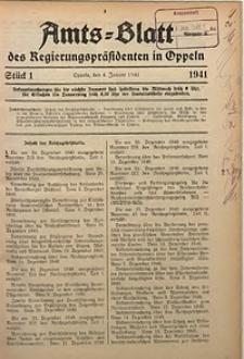 Amts-Blatt des Regierungspräsidenten in Oppeln für 1941, Bd. 126, St. 1