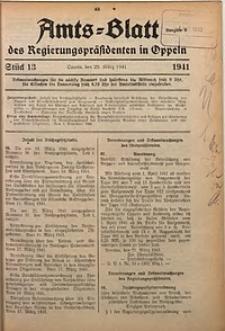 Amts-Blatt des Regierungspräsidenten in Oppeln für 1941, Bd. 126, St. 13