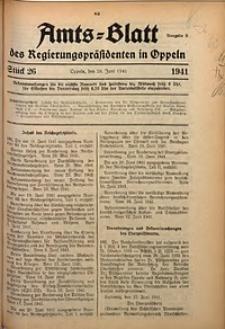 Amts-Blatt des Regierungspräsidenten in Oppeln für 1941, Bd. 126, St. 26