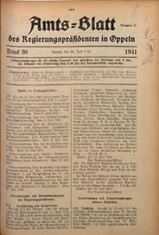 Amts-Blatt des Regierungspräsidenten in Oppeln für 1941, Bd. 126, St. 30