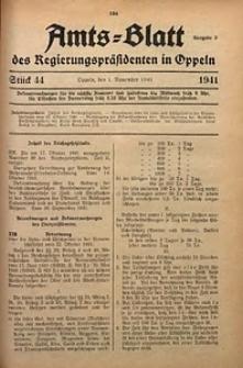 Amts-Blatt des Regierungspräsidenten in Oppeln für 1941, Bd. 126, St. 44