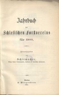 Jahrbuch des Schlesischen Forstvereins für 1900