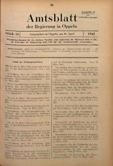 Amtsblatt der Regierung in Oppeln für 1942, Bd. 127, St. 16