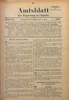 Amtsblatt der Regierung in Oppeln für 1942, Bd. 127, St. 28