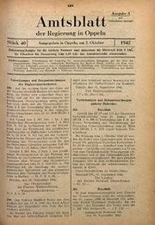 Amtsblatt der Regierung in Oppeln für 1942, Bd. 127, St. 40