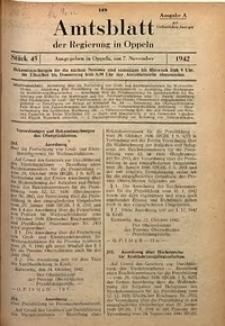 Amtsblatt der Regierung in Oppeln für 1942, Bd. 127, St. 45