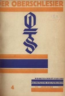 Der Oberschlesier, 1931, Jg. 13, Heft 4