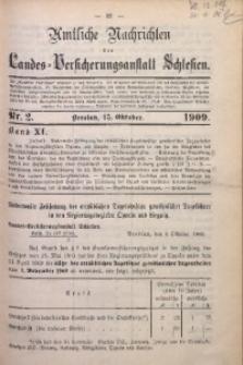 Amtliche Nachrichten der Landes-Versicherungsanstalt Schlesien, Bd. 11, 1909, Nr. 2