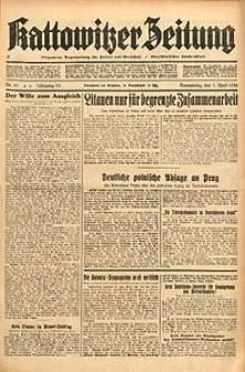 Kattowitzer Zeitung, 1938, Jg. 70, Nr. 81