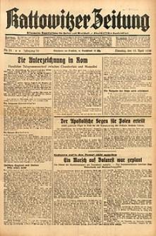 Kattowitzer Zeitung, 1938, Jg. 70, Nr. 91