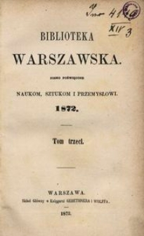 Biblioteka Warszawska, 1872, T. 3
