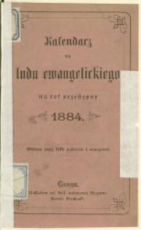 Kalendarz dla Ludu Ewangelickiego na Rok 1884