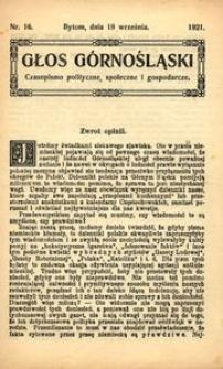 Głos Górnośląski. Czasopismo polityczne, społeczne i gospodarcze