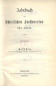 Jahrbuch des Schlesischen Forstvereins für 1906