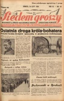 Siedem Groszy, 1934, R. 3, nr 53. - Wyd. DEG