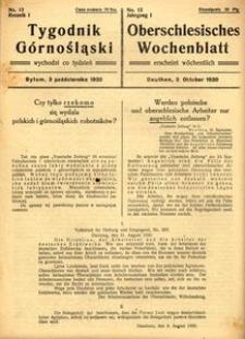 Tygodnik Górnośląski = Oberschlesisches Wochenblatt