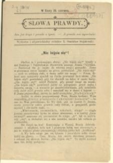 Słowa Prawdy, 1892, Nry 25 czerwca, 24 września
