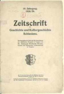 Zeitschrift für Geschichte und Kulturgeschichte Schlesiens, 1926/29