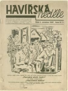 Havířska neděle, 1937, Nr 1