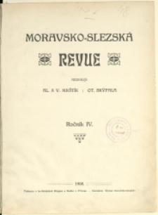 Moravsko-slezská revue, 1908, Nry 1-9/10