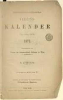Oesterreichisch-schlesischer Vereins-Kalender für das Jahr 1877