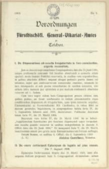 Verordnungen des fürstbischöfl. General-Vikariat-Amtes zu Teschen, 1910, Nry 1-4