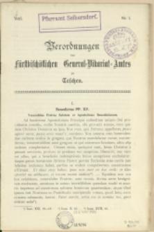 Verordnungen des fürstbischöfl. General-Vikariat-Amtes zu Teschen, 1915, Nry 1-7