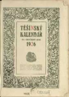 Těšínský kalendář : na obyčejný rok 1926