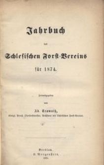 Jahrbuch des Schlesischen Forst-Vereins für 1874