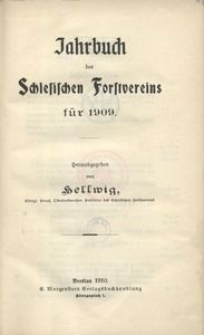 Jahrbuch des Schlesischen Forstvereins für 1909