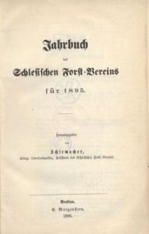 Jahrbuch des Schlesischen Forst-Vereins für 1895