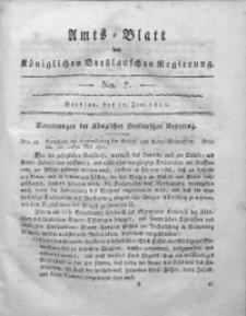 Amts-Blatt der Königlichen Breslauschen Regierung, 1811, Bd. 1, No 7