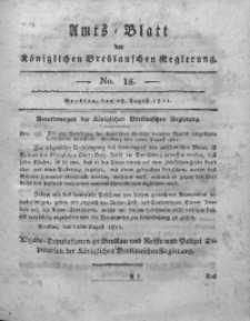 Amts-Blatt der Königlichen Breslauschen Regierung, 1811, Bd. 1, No 18
