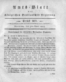 Amts-Blatt der Königlichen Breslauschen Regierung, 1815, Bd. 5, St. 13