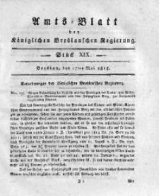 Amts-Blatt der Königlichen Breslauschen Regierung, 1815, Bd. 5, St. 19