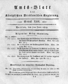 Amts-Blatt der Königlichen Breslauschen Regierung, 1815, Bd. 5, St. 22
