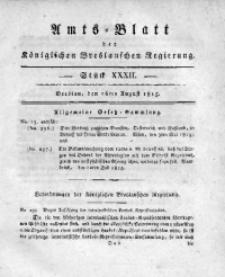 Amts-Blatt der Königlichen Breslauschen Regierung, 1815, Bd. 5, St. 32