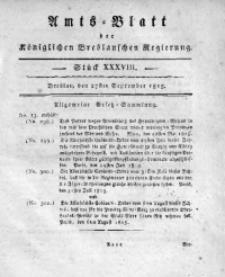 Amts-Blatt der Königlichen Breslauschen Regierung, 1815, Bd. 5, St. 38