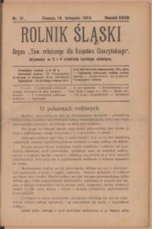 Rolnik Śląski, 1912, Nr 21