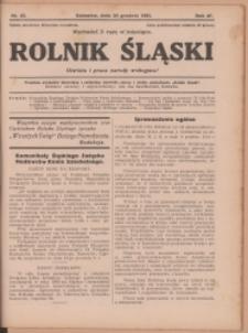 Rolnik Śląski, 1931, Nr 45